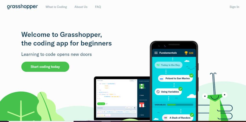 Screenshot of Grasshopper Website